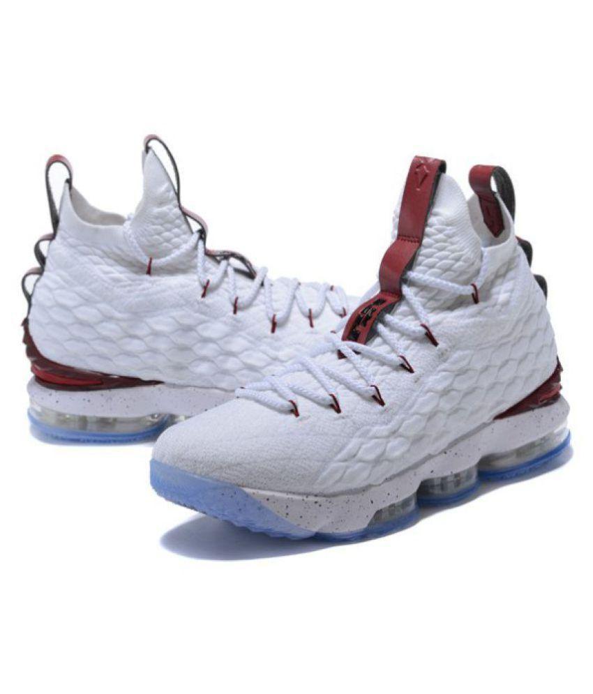 Nike LEBRON X15 GLL White Basketball
