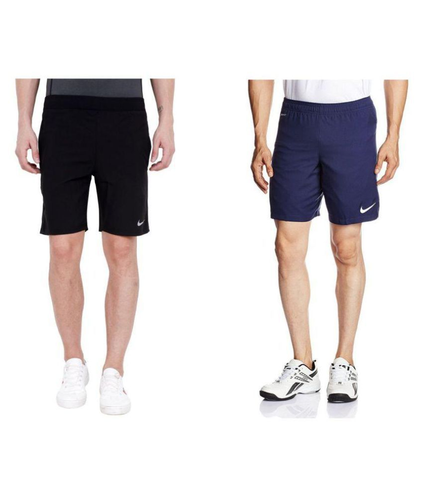 Combo Of Blue And Black Nike Shorts A-1