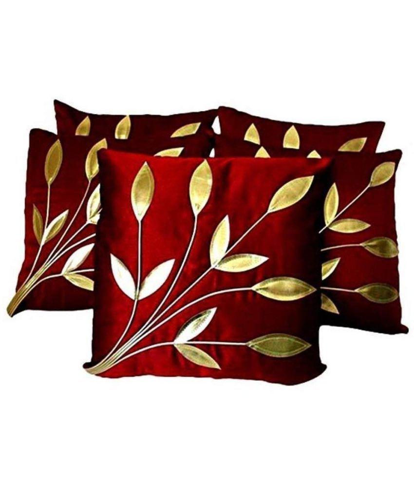 Homecraft Set of 5 Silk Cushion Covers 40X40 cm (16X16)