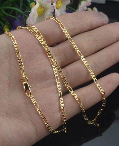 Kamalife 2MM Men Women Fashion Genuine 18K Yellow Gold GF Twisted Wedding Anniversary Chain Necklace 16-30 Inches