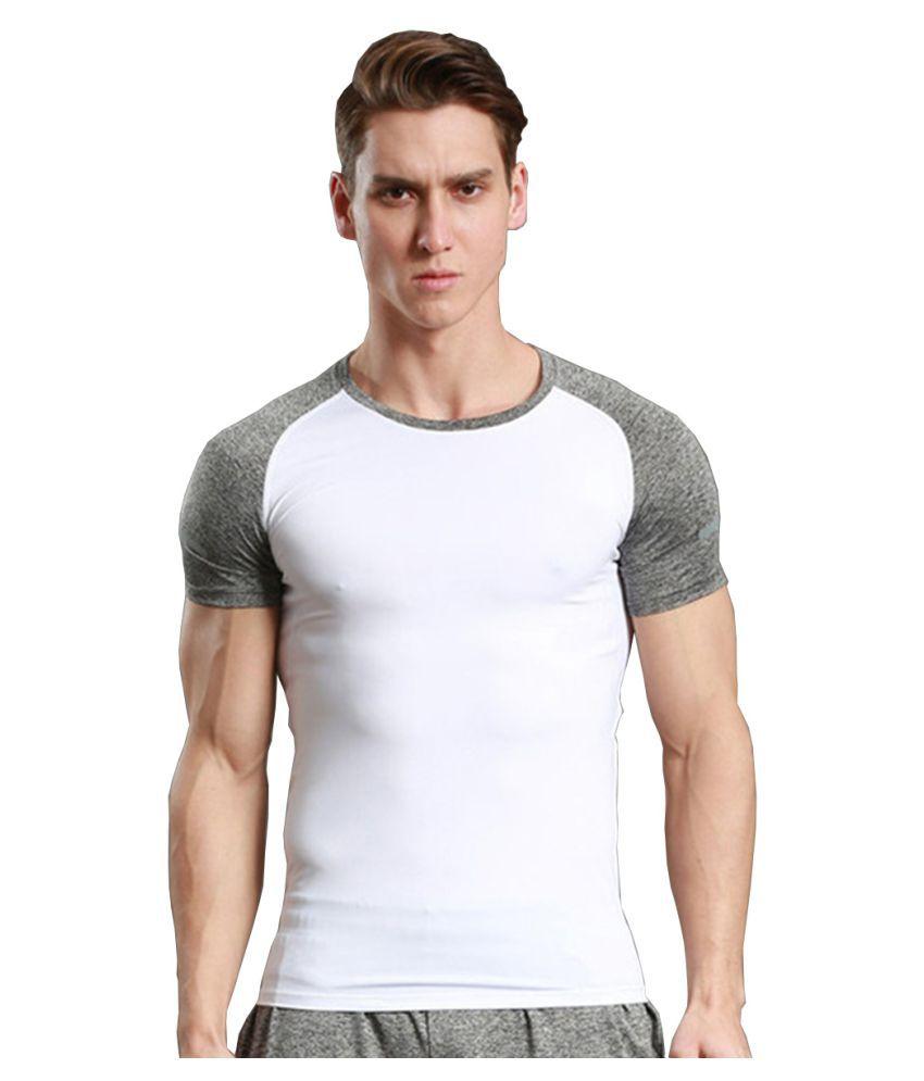 Zesteez White Lycra T-shirt