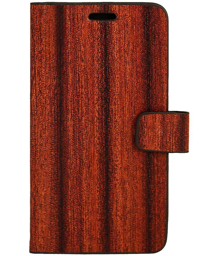 Lenovo Vibe K5 Flip Cover by Zocardo - Brown