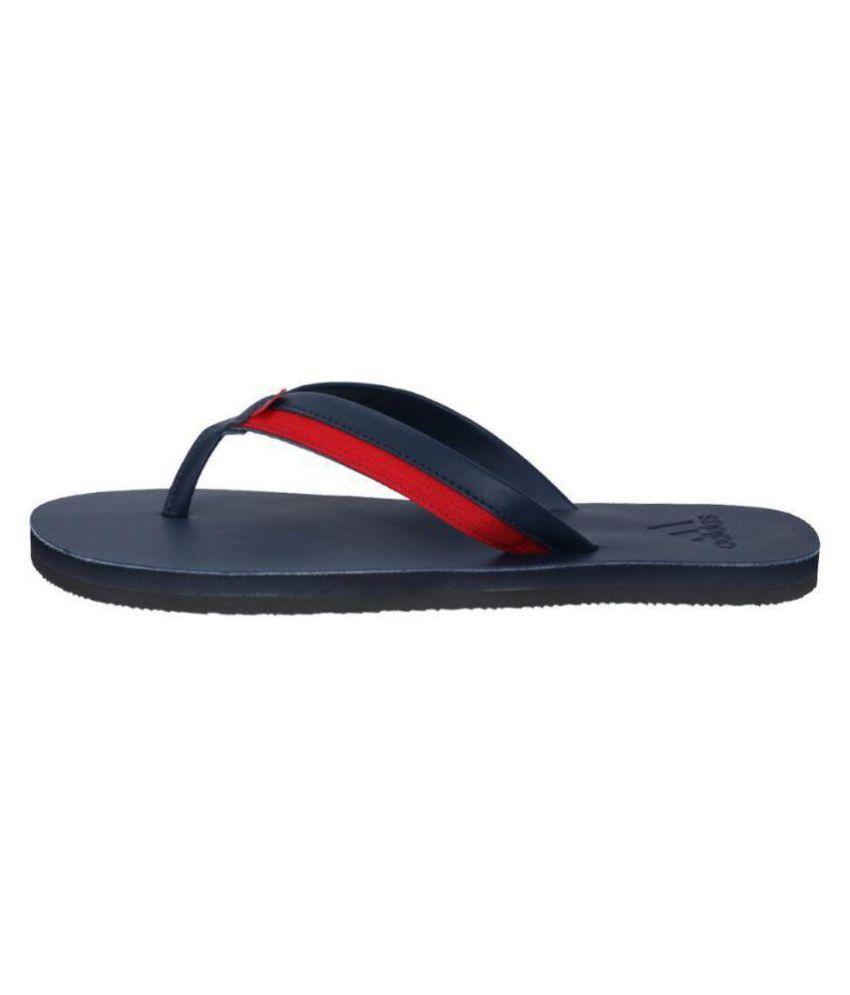 b9e32fdd2236 Adidas Brizo 3.0 Blue Leather Flip Flops Price in India- Buy Adidas ...