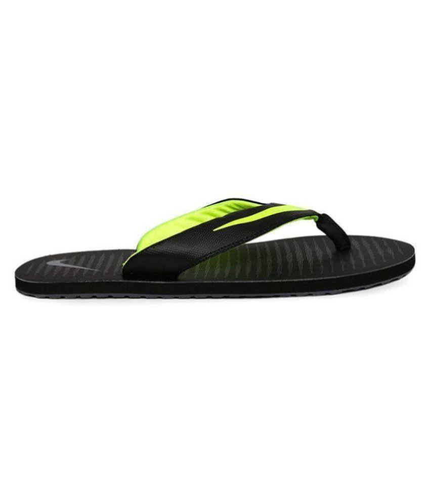 f68d0d60858 Nike Chroma 5 Black   Green thong Black Thong Flip Flop Price in ...