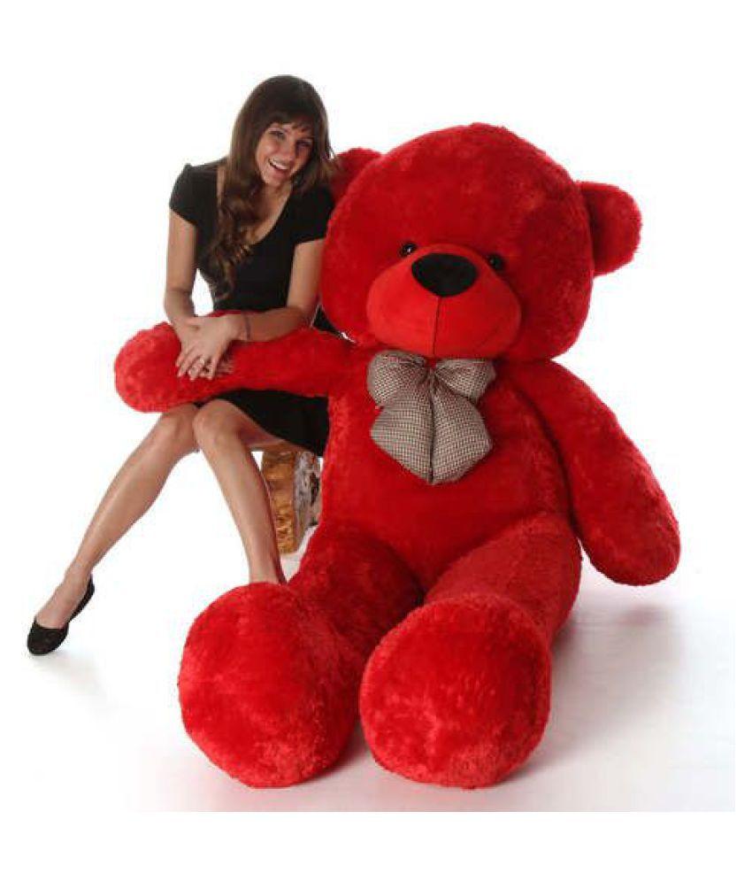 Red Teddy Bear 5 Feet, Avs 5 Feet Stuffed Spongy Huggable Cute Teddy Bear 152 Cm Red Color Buy Avs 5 Feet Stuffed Spongy Huggable Cute Teddy Bear 152 Cm Red Color Online At Low Price Snapdeal