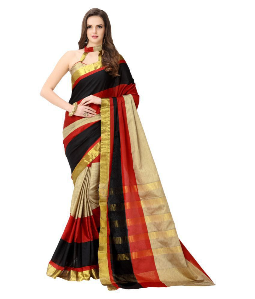 cc1ed4bbf50 Dressy Red and Beige Chanderi Saree - Buy Dressy Red and Beige Chanderi  Saree Online at Low Price - Snapdeal.com