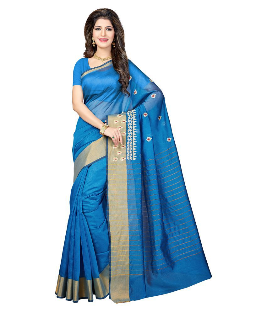 Ishin Blue Silk Saree