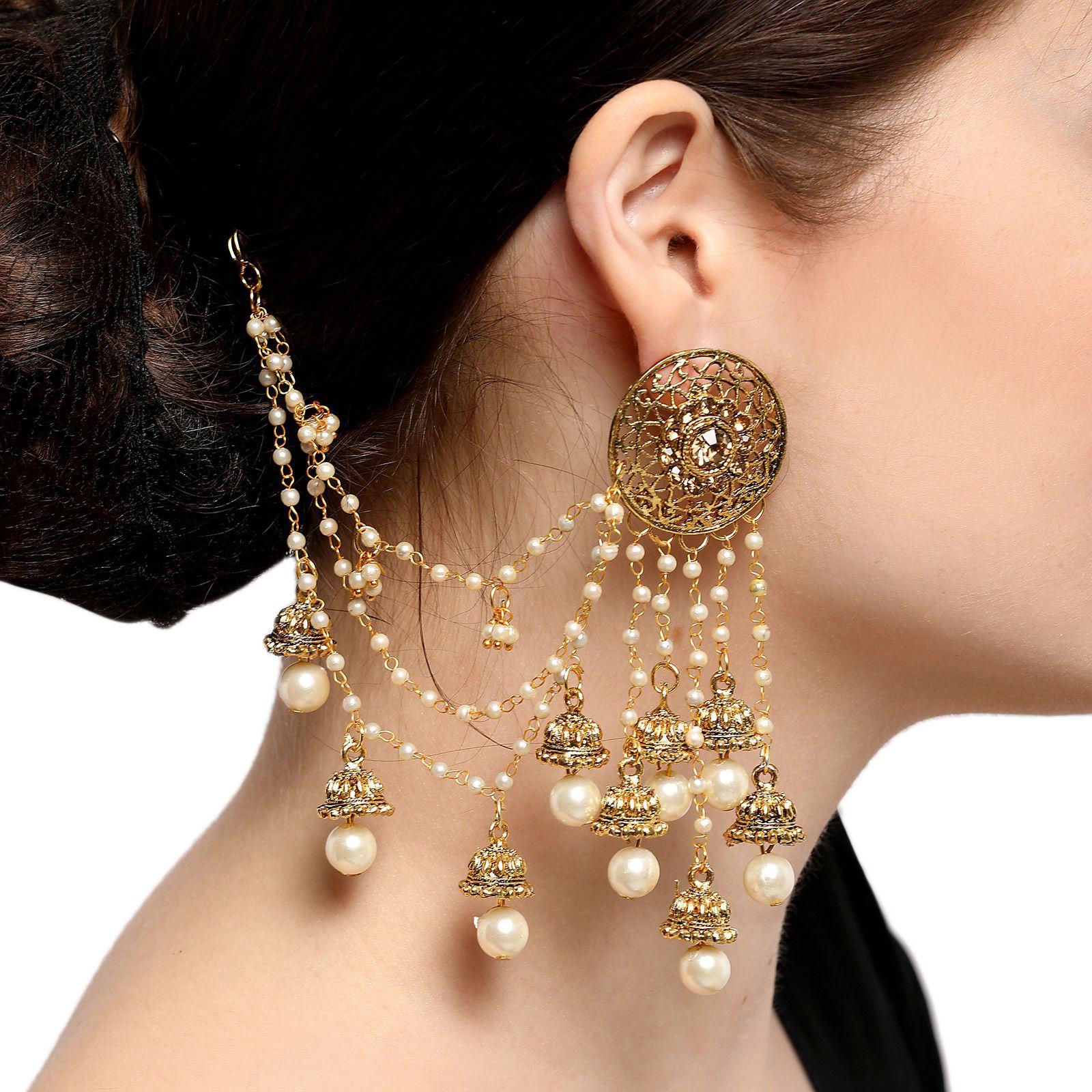 Aadita Bahubali Design Artificial Antique Heavy Jewellery Earrings