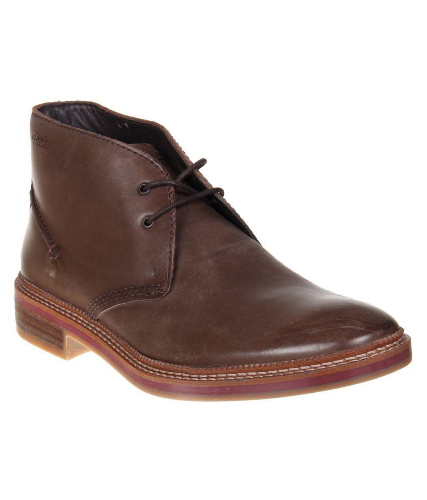 Clarks Tan Casual Boot