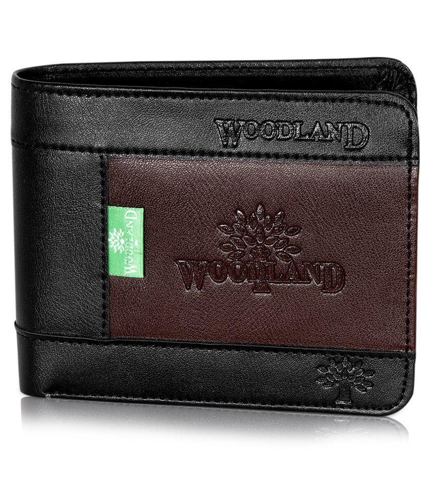 Woodland Leather Black Formal Regular Wallet