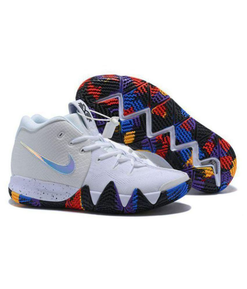 size 40 e13be bcdff Nike KYRIE 4 White Basketball Shoes