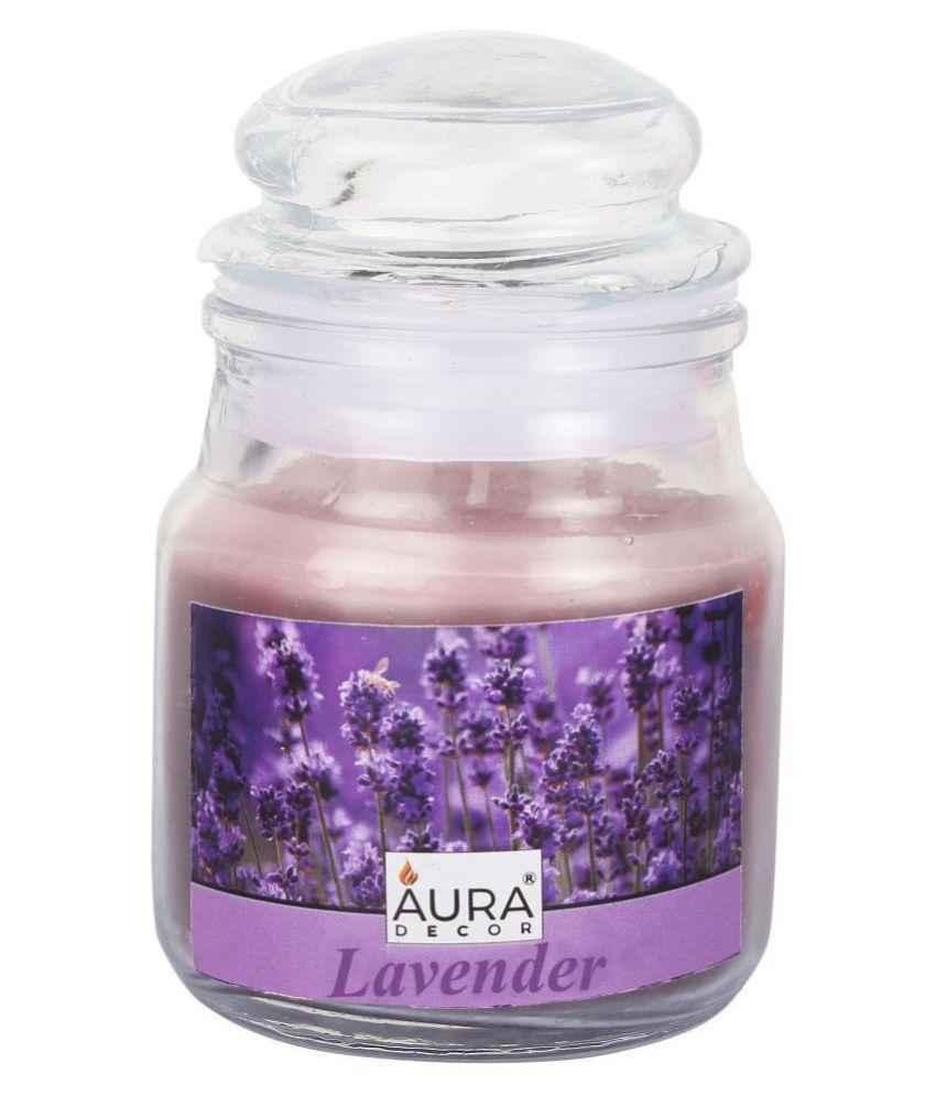 AuraDecor Purple Jar Candle - Pack of 1