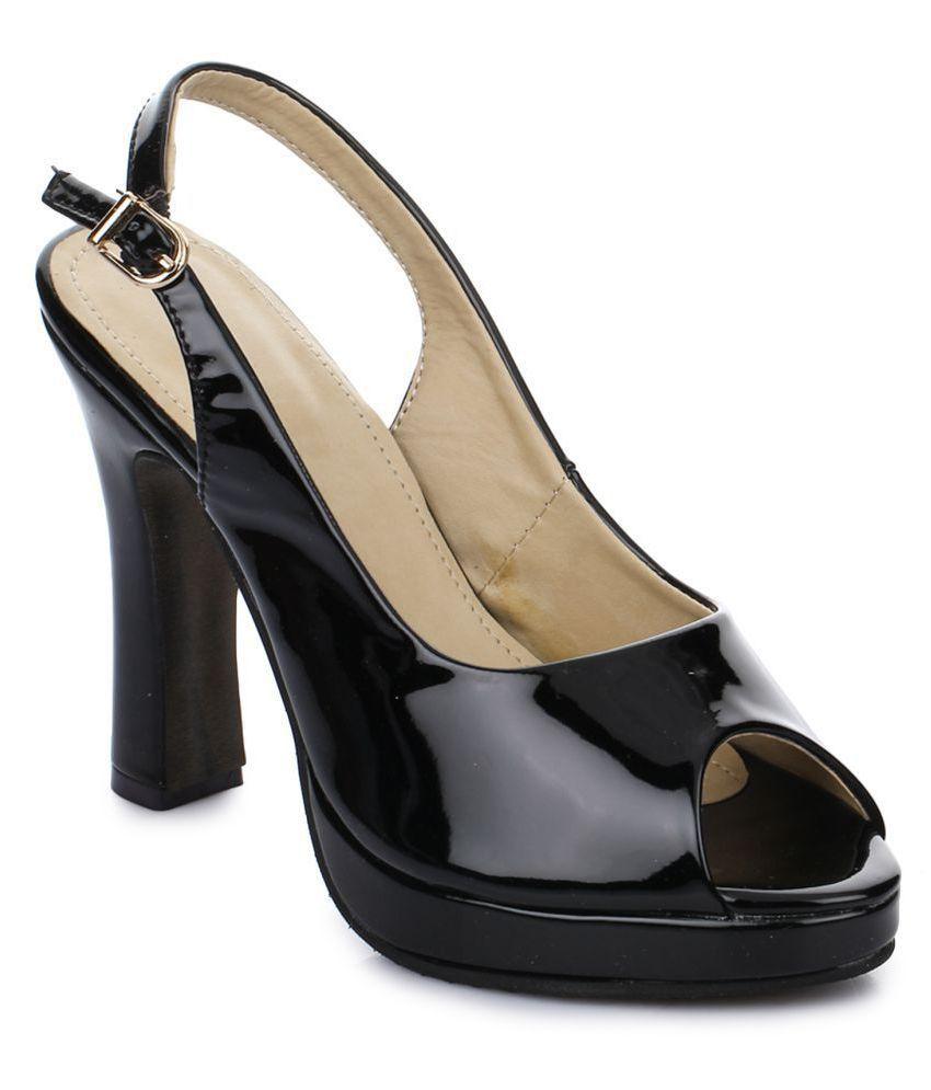 AADVIT Black Block Heels