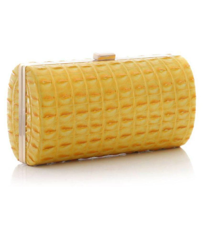 Luggage Kart Yellow Faux Leather Crossbody