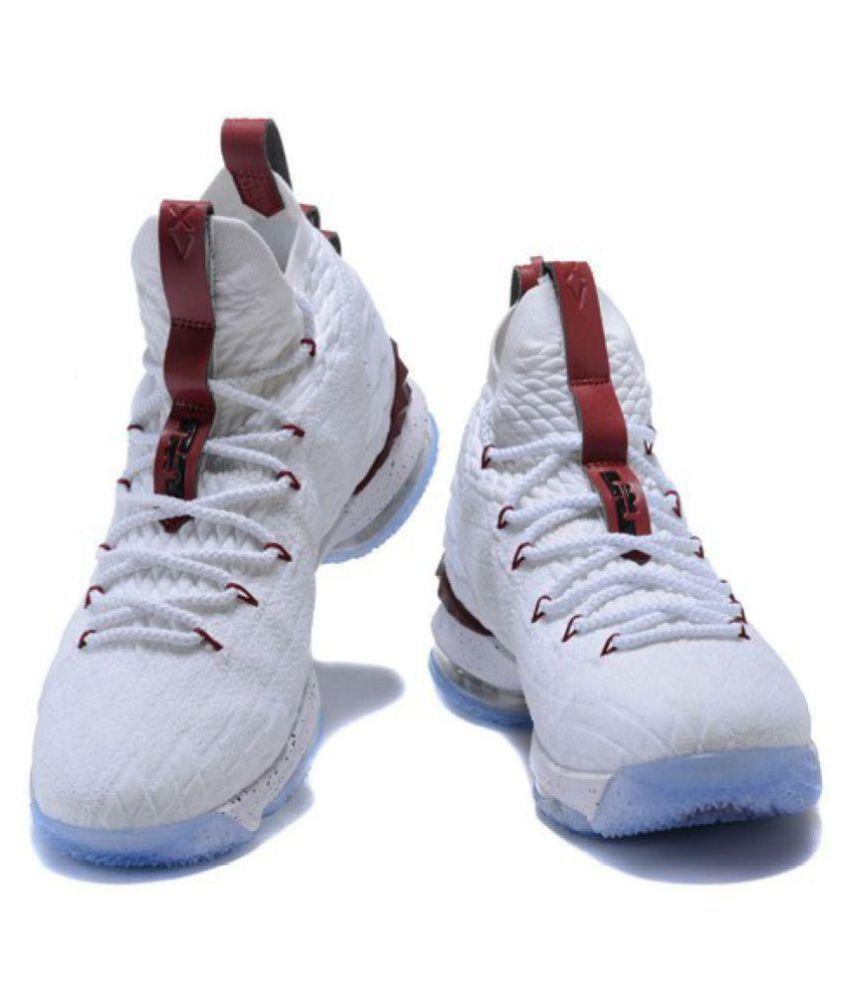 142591236ce Nike LEBRON 15 PMG White Basketball Shoes - Buy Nike LEBRON 15 PMG ...