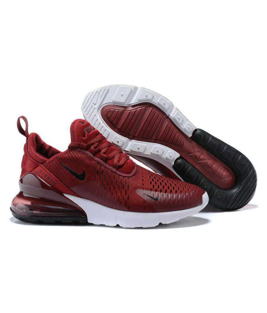 online store e61f2 69833 Nike AIR MAX 270 Red Running Shoes - Buy Nike AIR MAX 270 Red Running Shoes  Online at Best Prices in India on Snapdeal