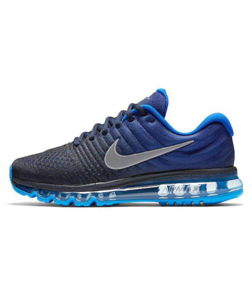 6672d071da Nike AIRMAX 2017 ALL COLOUR Blue Running Shoes - Buy Nike AIRMAX 2017 ALL  COLOUR Blue Running Shoes Online at Best Prices in India on Snapdeal