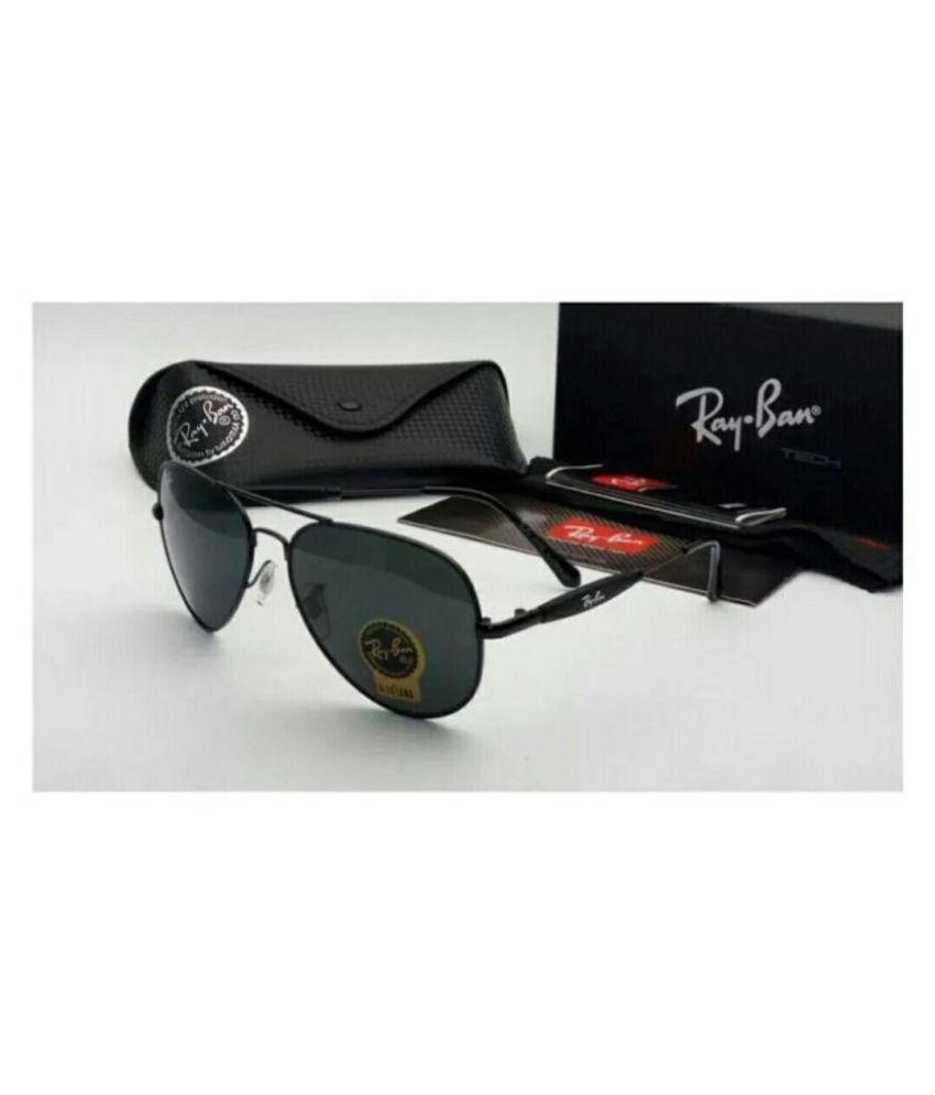 Rayban Stylish Sunglasses Black Aviator Sunglasses Blkblk3517