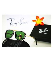 Ray Ban Sunglasses Green Square Sunglasses ( RB4414 )