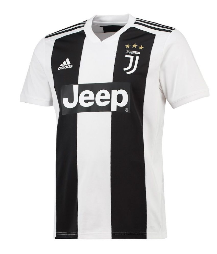 e0d675d131e Juventus Ronaldo Home Jersey Black   White  Buy Online at Best Price on  Snapdeal