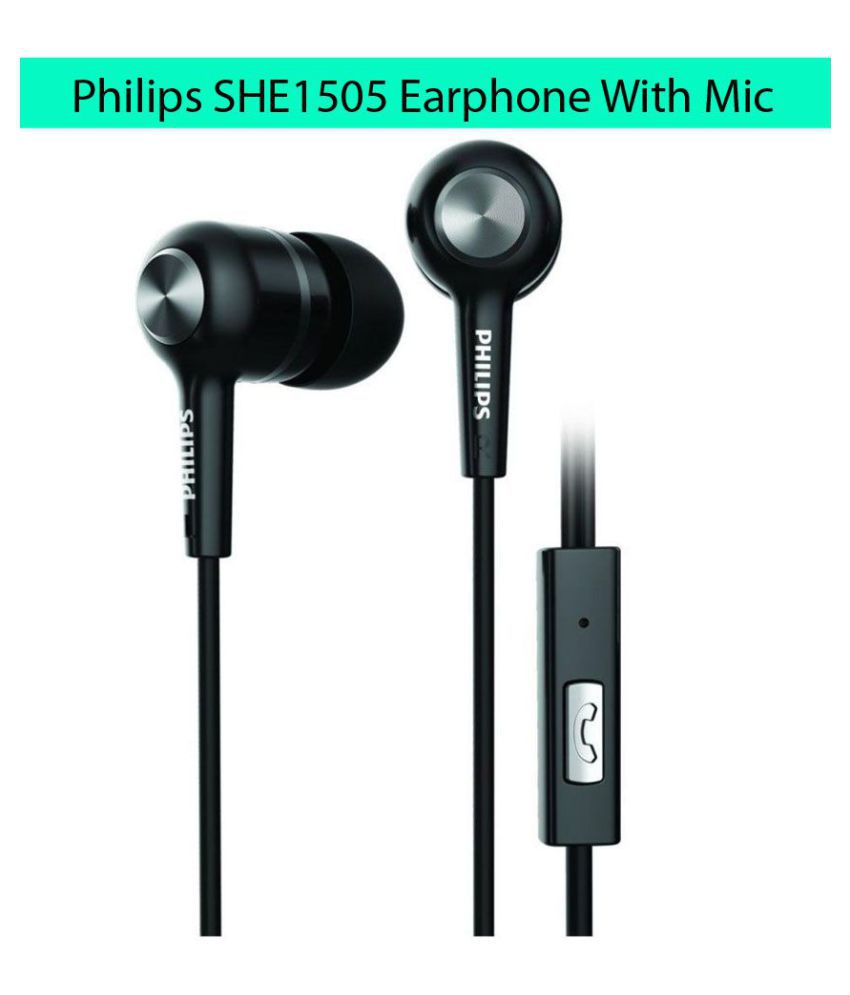 Philips SHE1505 In Ear Wired Earphones With Mic