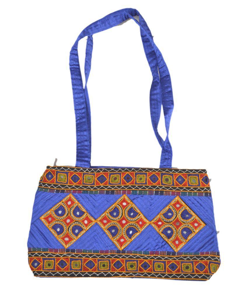 HANDICRAFT HAND BAG Multi Satin Sling Bag