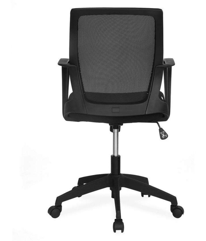 Nilkamal Scoop Mid Back Office Chair (Black)