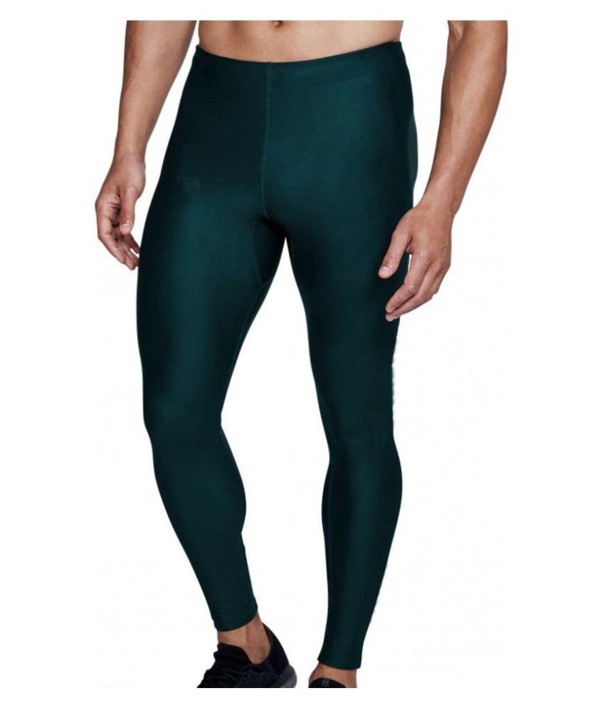 Bloomun Fitness Mens Tight, Compression, Gym Tight, Cycling Tight, Yoga Pant, Jogging Tights - Bottle Green