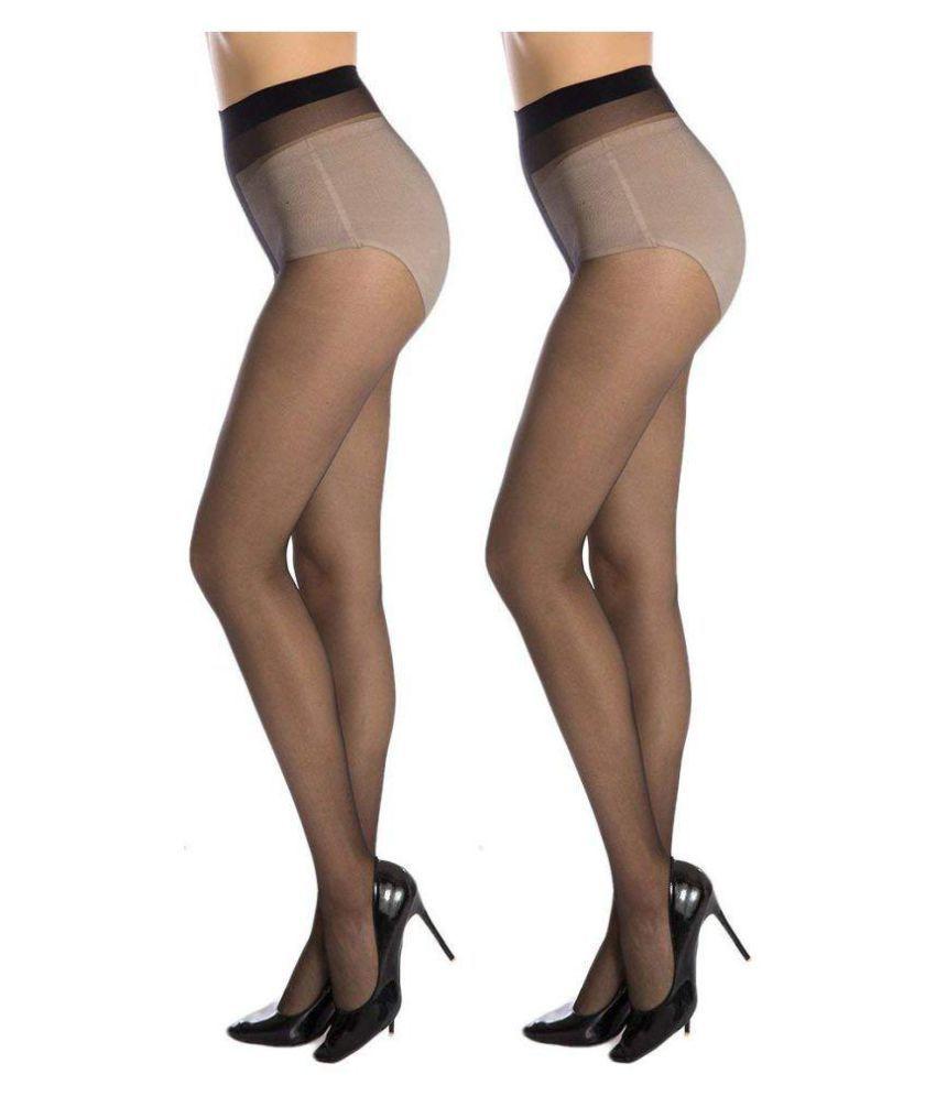 6dc4e067af9 Golden Girl Sheer Black Panty Hose Stockings Pack Of 2  Buy Online ...