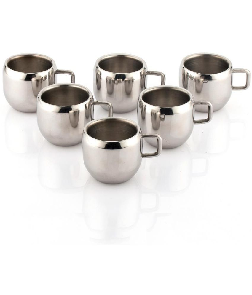 Kc Stainless Steel Double Walled Coffee Tea Cup Mug 6 Pcs Set Buy