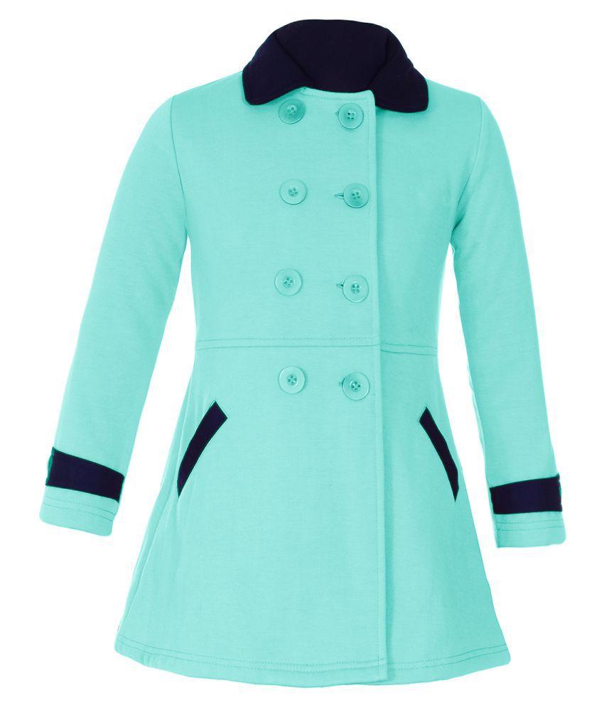 Naughty Ninos Girls Sea Green Fleece Jacket\n