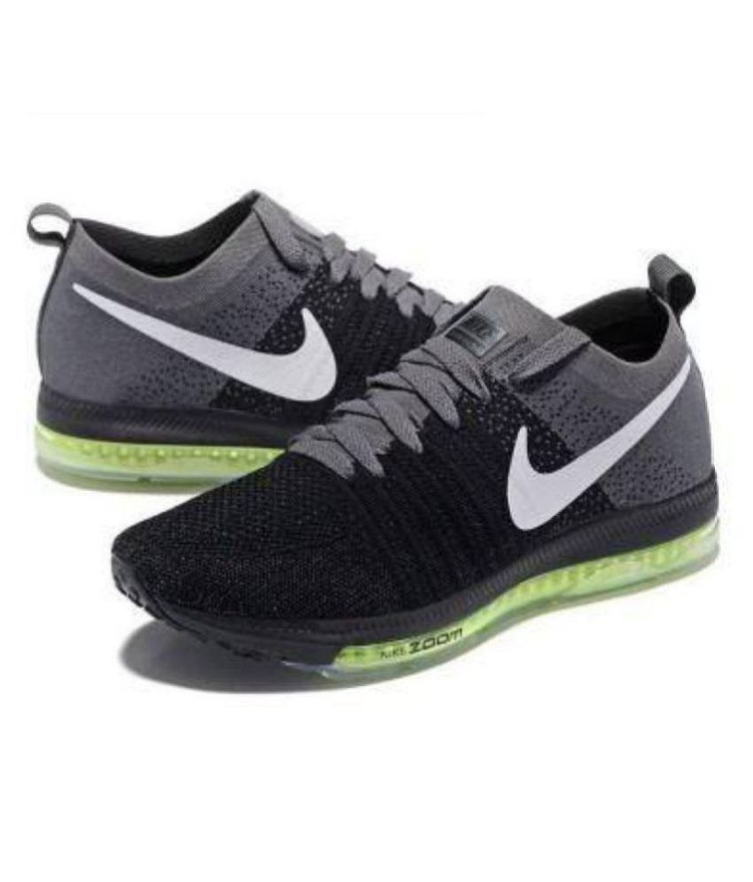 6132b8f6517b Nike zoom all out running shoe Black Running Shoes - Buy Nike zoom all out  running shoe Black Running Shoes Online at Best Prices in India on Snapdeal