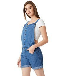 Miss Chase Denim Jeans Dungarees - Blue
