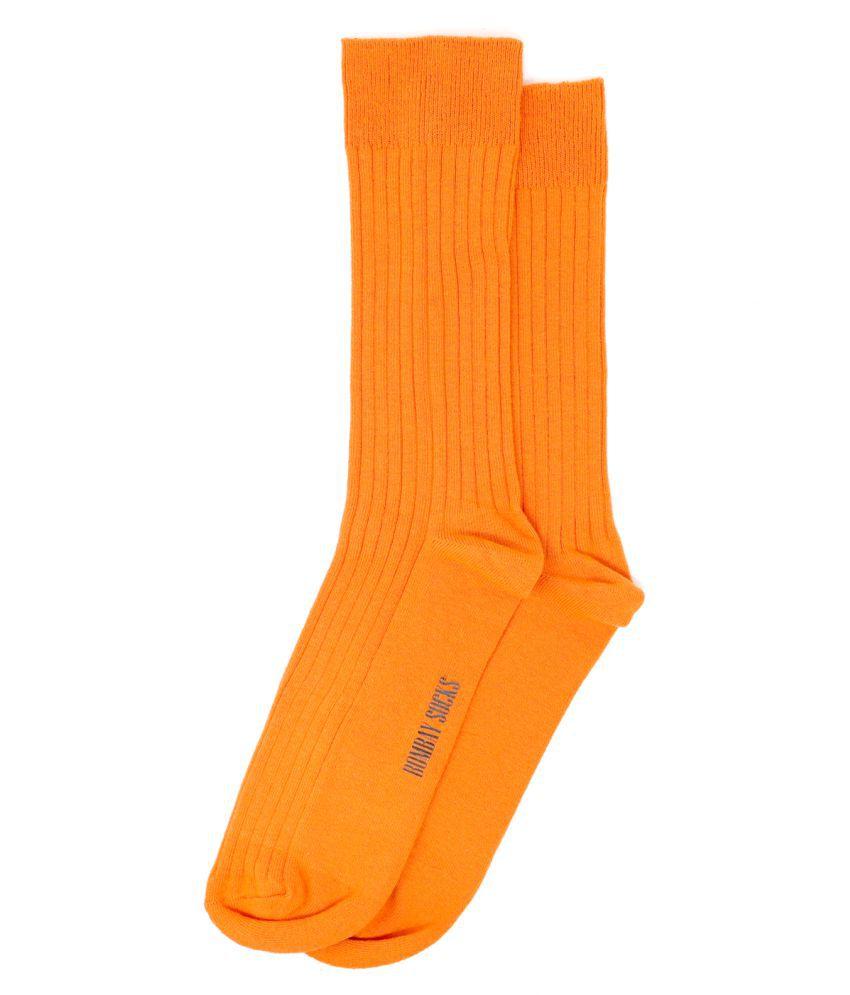 BOMBAY SOCK CO. Orange Formal Full Length Socks