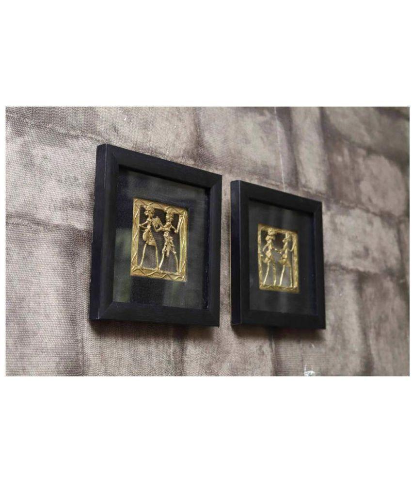 Indikala Dhokra Work Paintings Wood Painting With Frame
