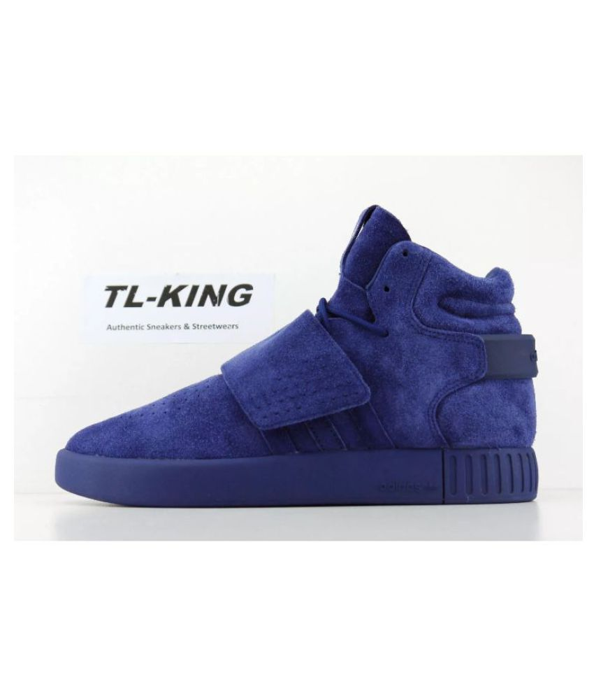 sale retailer c8f7f b3b58 Adidas Tubular Invader Blue Running Shoes