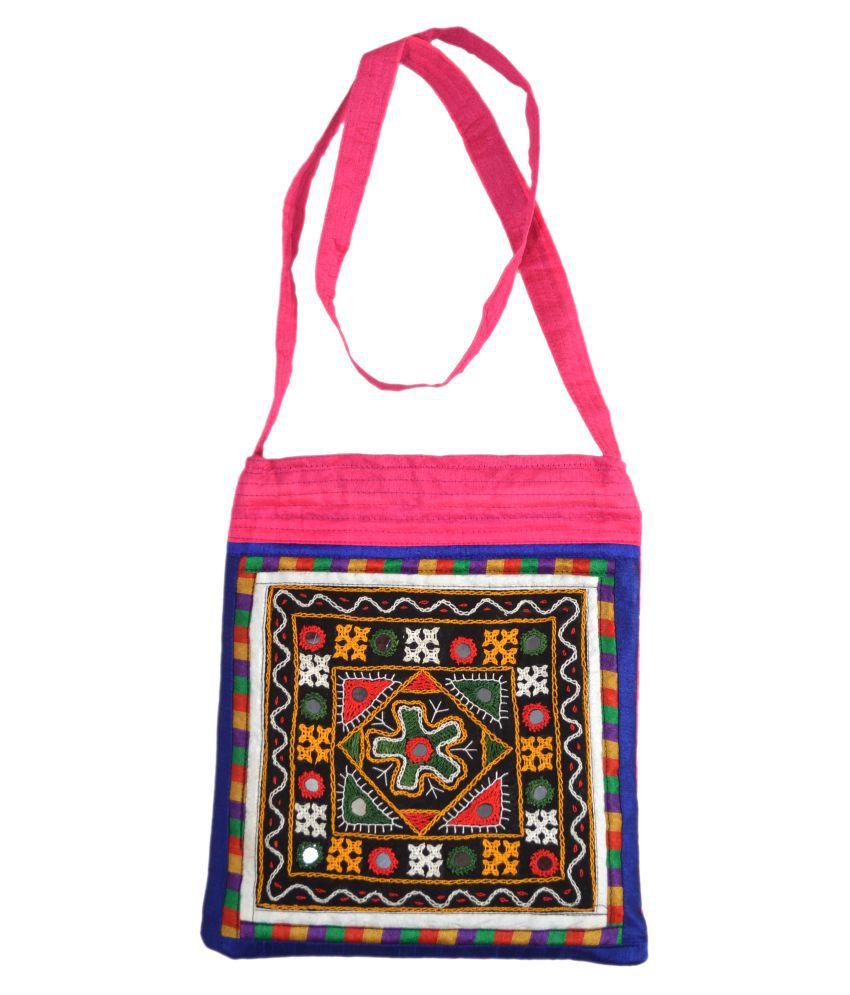 kutch women handbag Multi Satin Sling Bag