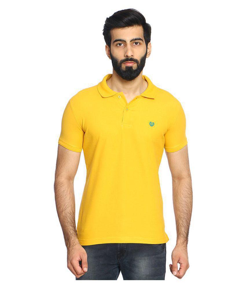Duke Yellow Regular Fit Polo T Shirt Pack of 1