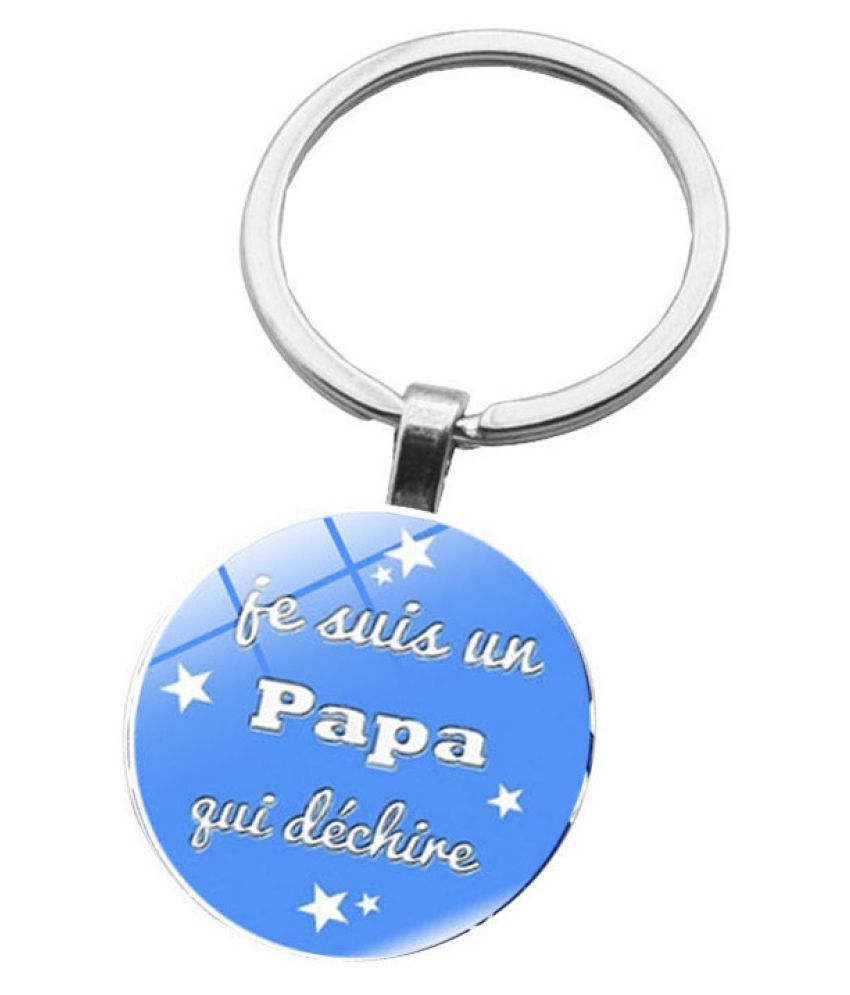 Kamalife Fashion Blue Zinc Alloy Bling Keychain Accessories Gift