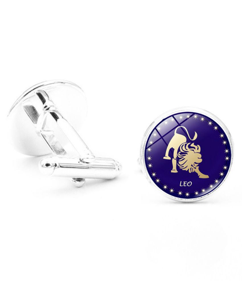 Kamalife Fashion Purple Alloy Letter Gem Cufflinks&Buttons Jewellery Accessories Gift