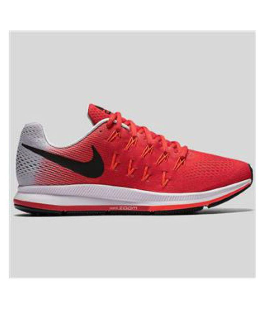a66ef107f9f5d Nike AIR ZOOM PEGASUS 33 Red Running Shoes - Buy Nike AIR ZOOM PEGASUS 33  Red Running Shoes Online at Best Prices in India on Snapdeal