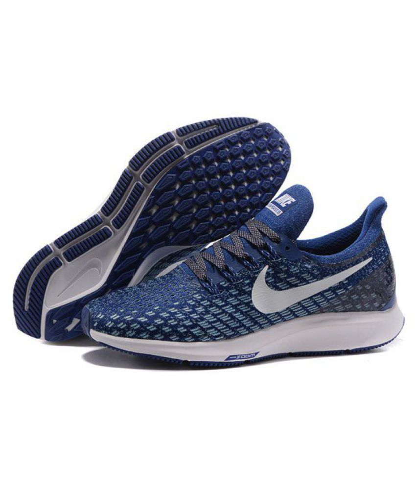 the best attitude a6ef5 7ee20 Nike AIR ZOOM PEGASUS 35 Blue Running Shoes - Buy Nike AIR ZOOM PEGASUS 35  Blue Running Shoes Online at Best Prices in India on Snapdeal