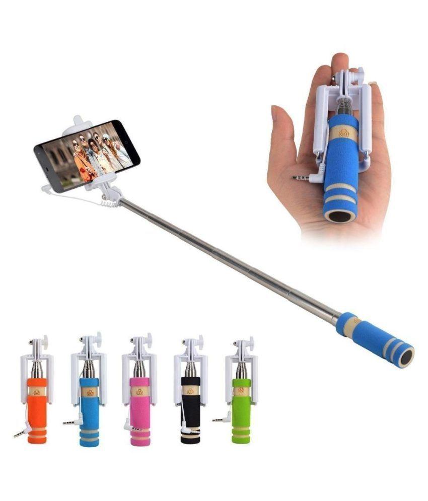 Opta Multicolor Aux Wire Selfie Stick - 10 cm
