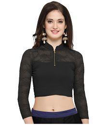 Janasya Black Lycra Readymade without Pad Blouse