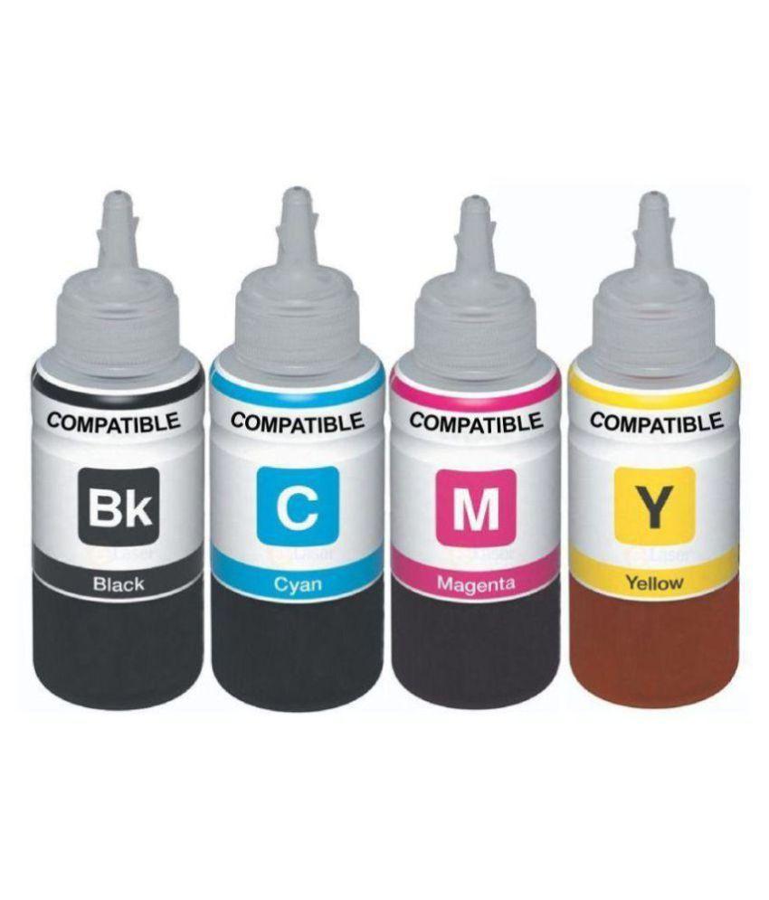 PRASH HP 680 Ink Cartridge Multicolor Ink Pack of 4