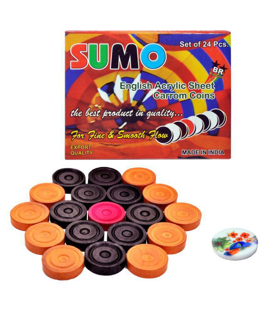 STC Wooden Multicolor Carrom One Size
