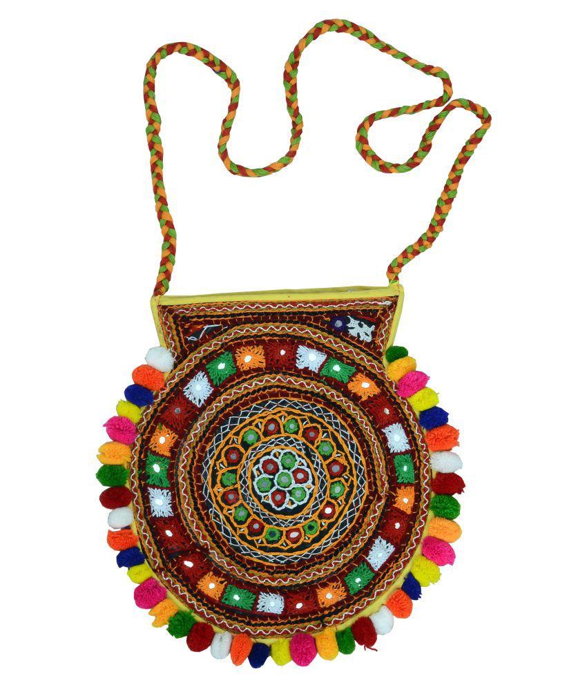 kutch women handbag Multi Cotton Shoulder Bag
