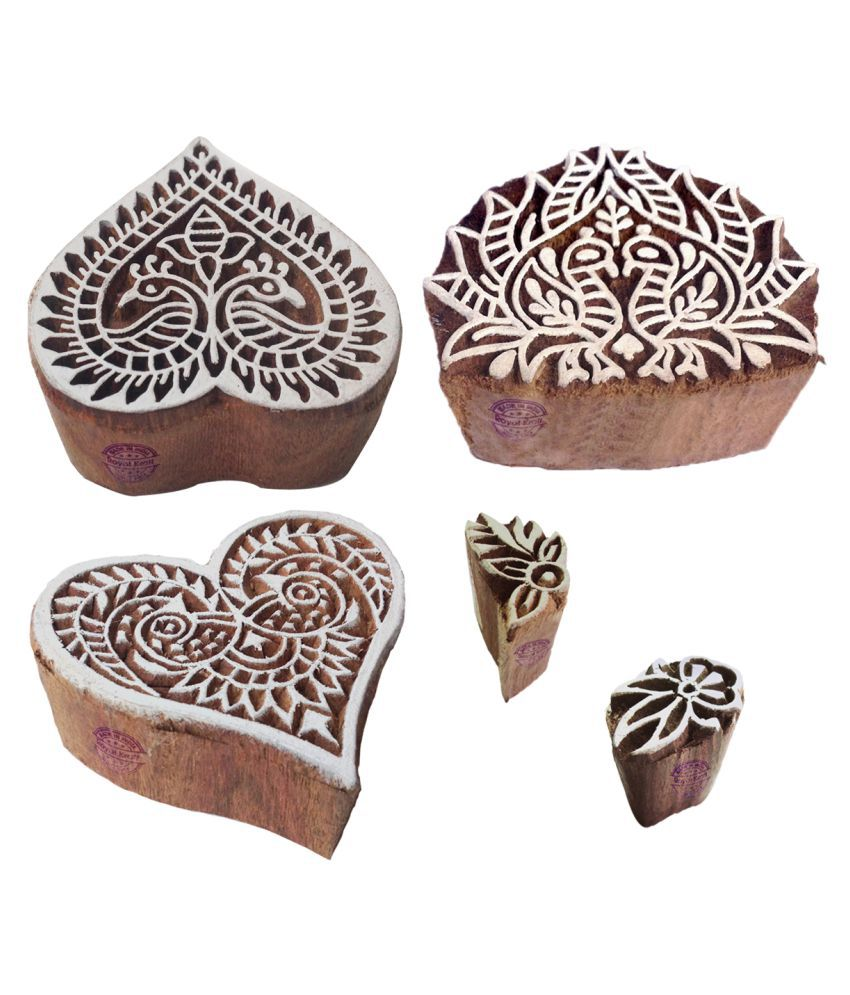Business & Industrial Hearty Hand Wooden Printing Block Wooden Stamp Block Printing Blocks Clothes Blocks Large Assortment