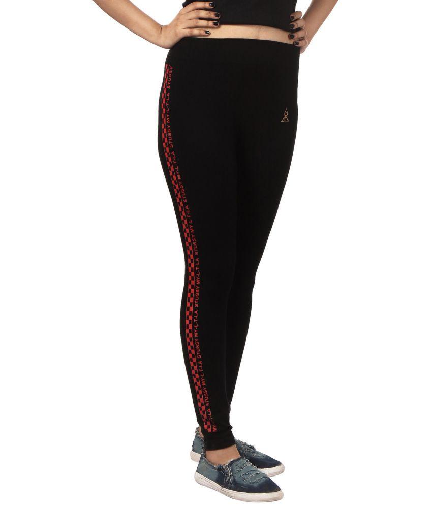 Fit 'N' You Cotton Blend Trackpants - Black