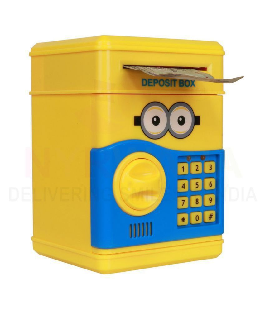 Zyamalox minion atmspeaking money safe for kids with smart electronic lock piggy bank